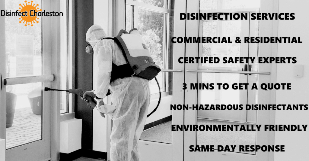 charleston disinfectant disinfect clean sanitize covid corona covid-19 coronavirus mt pleasant summerville north charleston